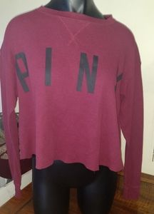 PINK Long Sleeve Cropped Thermal